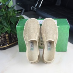 张家界森林之花  男式亚麻黄丝瓜瓤布鞋 透气,吸汗,保健不臭脚