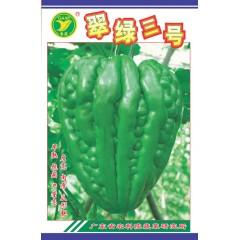 广东粤蔬 翠绿三号大顶苦瓜种子 广东农科院选育 早熟结瓜多 亩产2500公斤 苦瓜种子 20克装