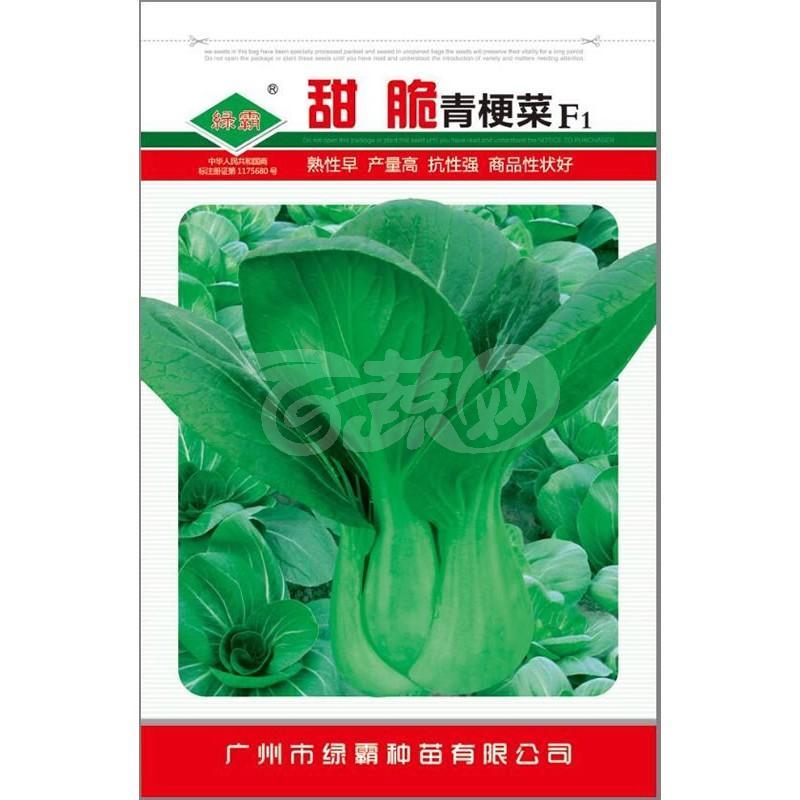 广州绿霸 甜脆青梗菜种子   极耐热、耐湿、特抗病、高产 播种后30-35天后收获 青梗菜种子 10克装