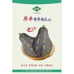 广州绿霸 华丰香芋南瓜种子 瓜皮墨绿色 瓜肉橙红色 肉厚 水分少 香气浓 果型靓 单瓜重2公斤左右 10克装