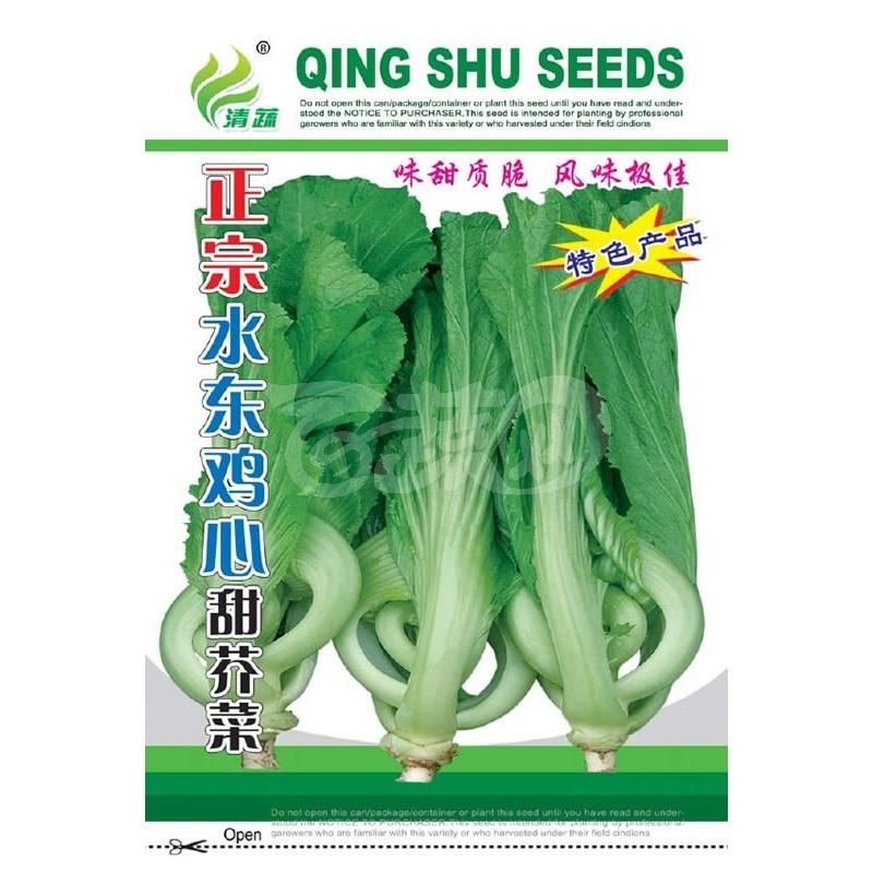 清远清蔬 正宗水东鸡心甜芥菜种子 广东全年可种植 叶形美观 抗病性好 生长快速 芥菜种子 20克装